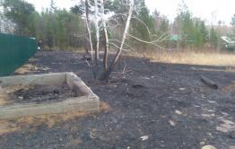 За селом Угдан сгорели дачи