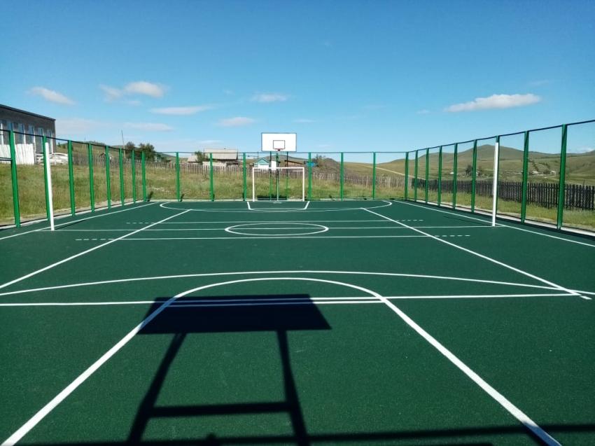 Спортивную площадку за три миллиона построили в Чернышевском районе Забайкалья