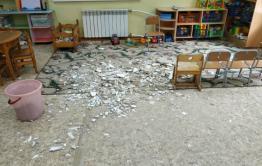 Обрушившийся потолок в детсаду Забайкалья восстановили только после вмешательства прокуратуры