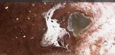 Зимние Торейские озёра на снимке из космоса. Фото со страницы О. Корсуна в Fb.