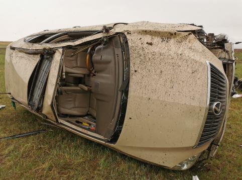 Водитель Lexus опрокинулся с трассы в Забайкальском районе