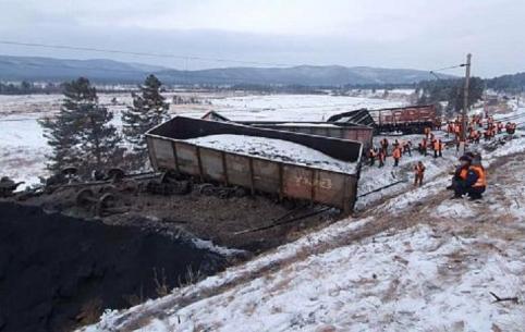 Движение полностью восстановлено на месте схода 12-ти вагонов в Забайкалье