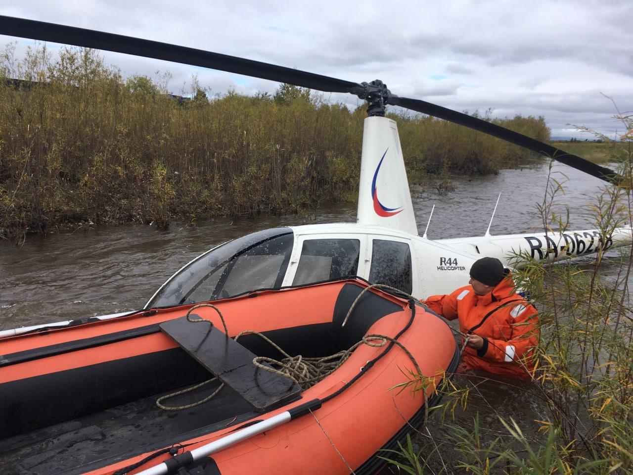 Вертолет Robinson упал в Читинку в районе Школы 17 из-за неисправности приборов