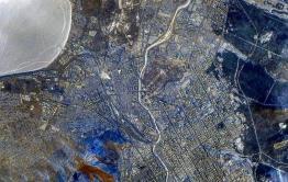 Российский космонавт показал новогоднюю Читу из космоса