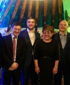 Вот так встреча в московском ресторане! (тройка справа - Осипов, Жданова, Ильковский). 27 декабря