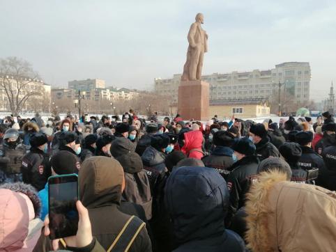 В Чите начался митинг в поддержку Алексея Навального