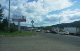 Большая пробка образовалась на Кирова в Чите из-за ДТП
