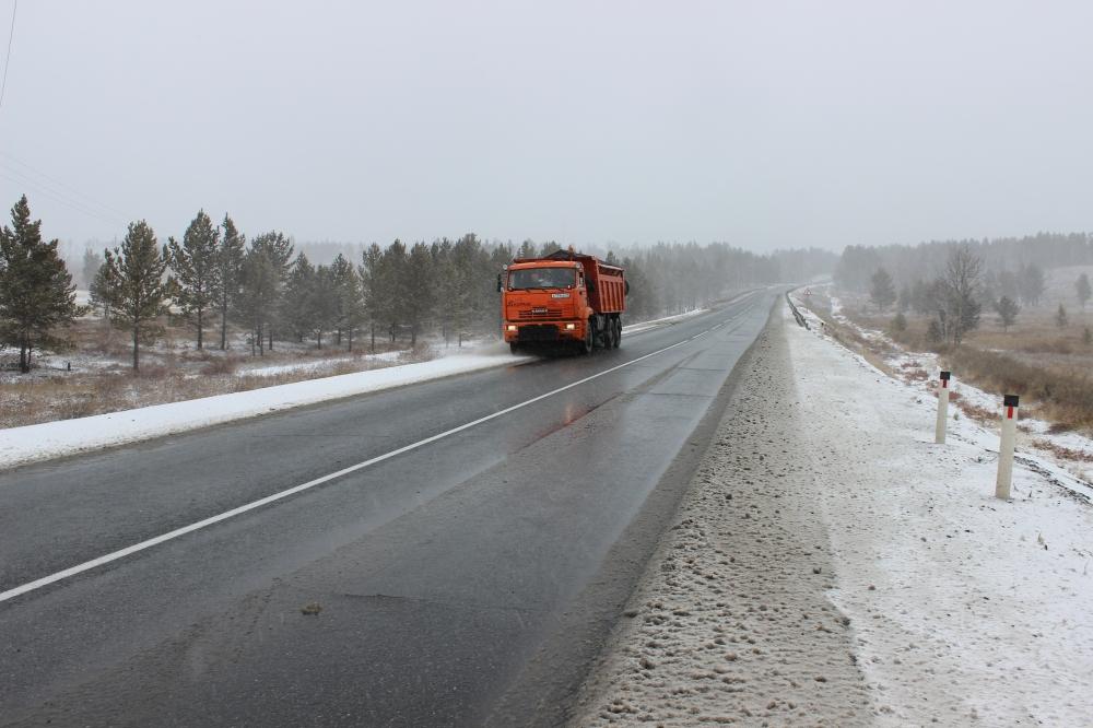Движение на трассе Чита-Хабаровск ограничено из-за выпавшего снега