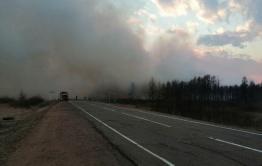 Огонь приближается к селу Иван-Озеро со стороны Арахлея (видео)