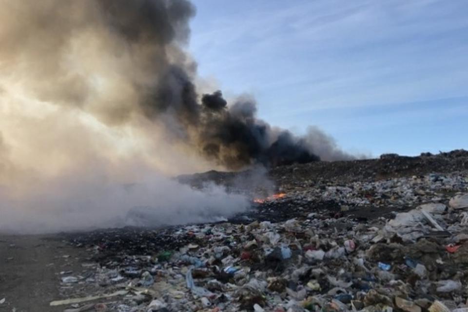 Пожар на Читинской свалке не вызвал превышения загрязнения воздуха