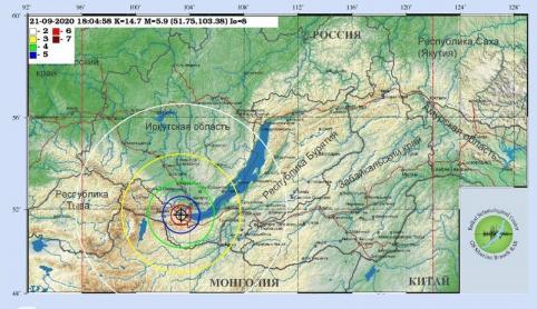 Ночное землетрясение на Байкале ощутили в Чите