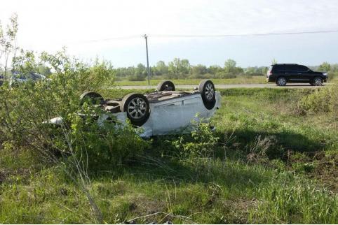 Водитель перевернулся на трассе в Красночикойском районе
