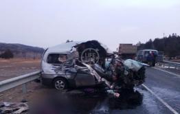 Life опубликовал фото с места ДТП с семью погибшими в Агинском районе