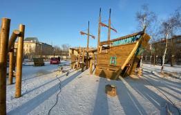 Детская площадка в виде парусника появится на площади Декабристов в Чите