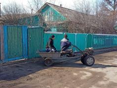 Чудо сельской техники. Село Утан, Чернышевский район, 2 апреля.