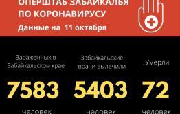 Новый рекорд по коронавирусу в Забайкалье — 169 зараженных за сутки