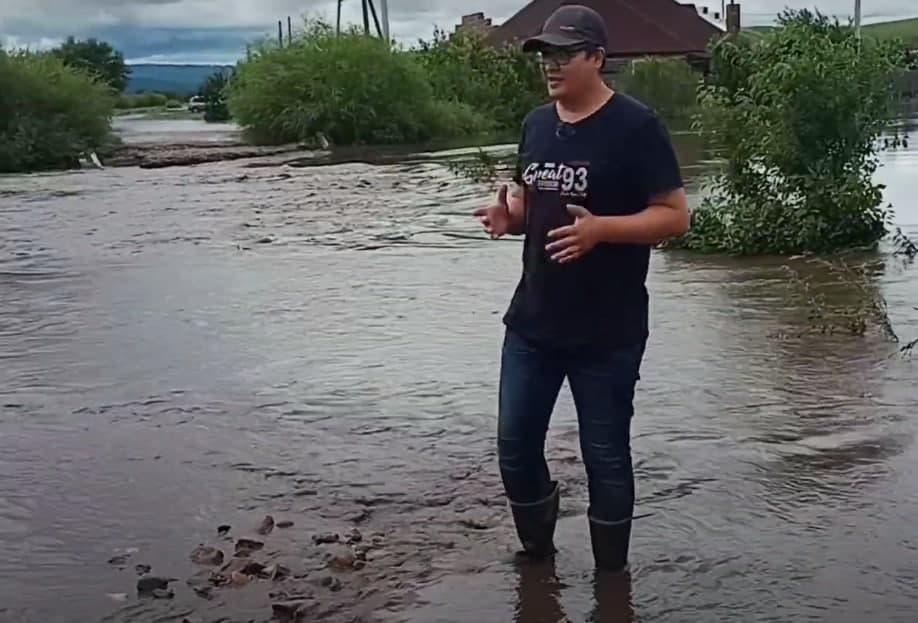 Река Кия разбушевалась и затопила Шилку в Забайкалье (видео)