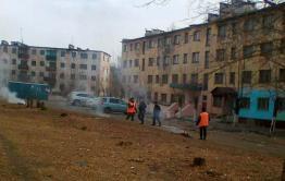 Яснинские коммунальщики жгут мусор в центре поселения