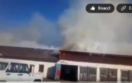 В Балее горят гаражи ДЭУ (видео)