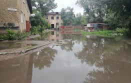 Остров затопило после обильных дождей