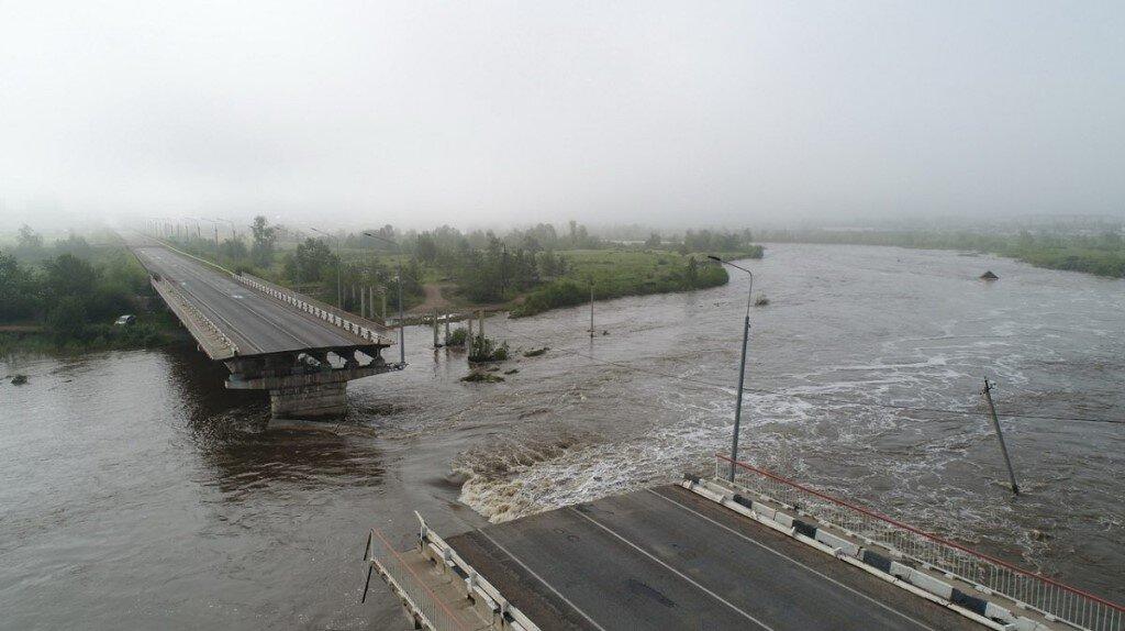 Снесенный наводнением Каштакский мост в Чите отремонтирует ООО «Фундамент»
