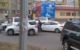 Очередное ДТП напротив редакции «Вечорки»