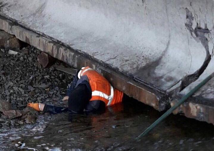 Фото в ксеньевской обрушился мост