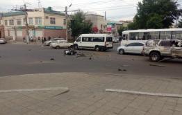 Смерть мотоциклиста в ДТП в Чите (Видео)