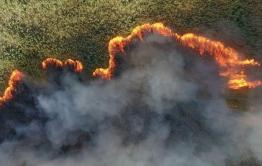 В Красночикойском районе полыхают пожары