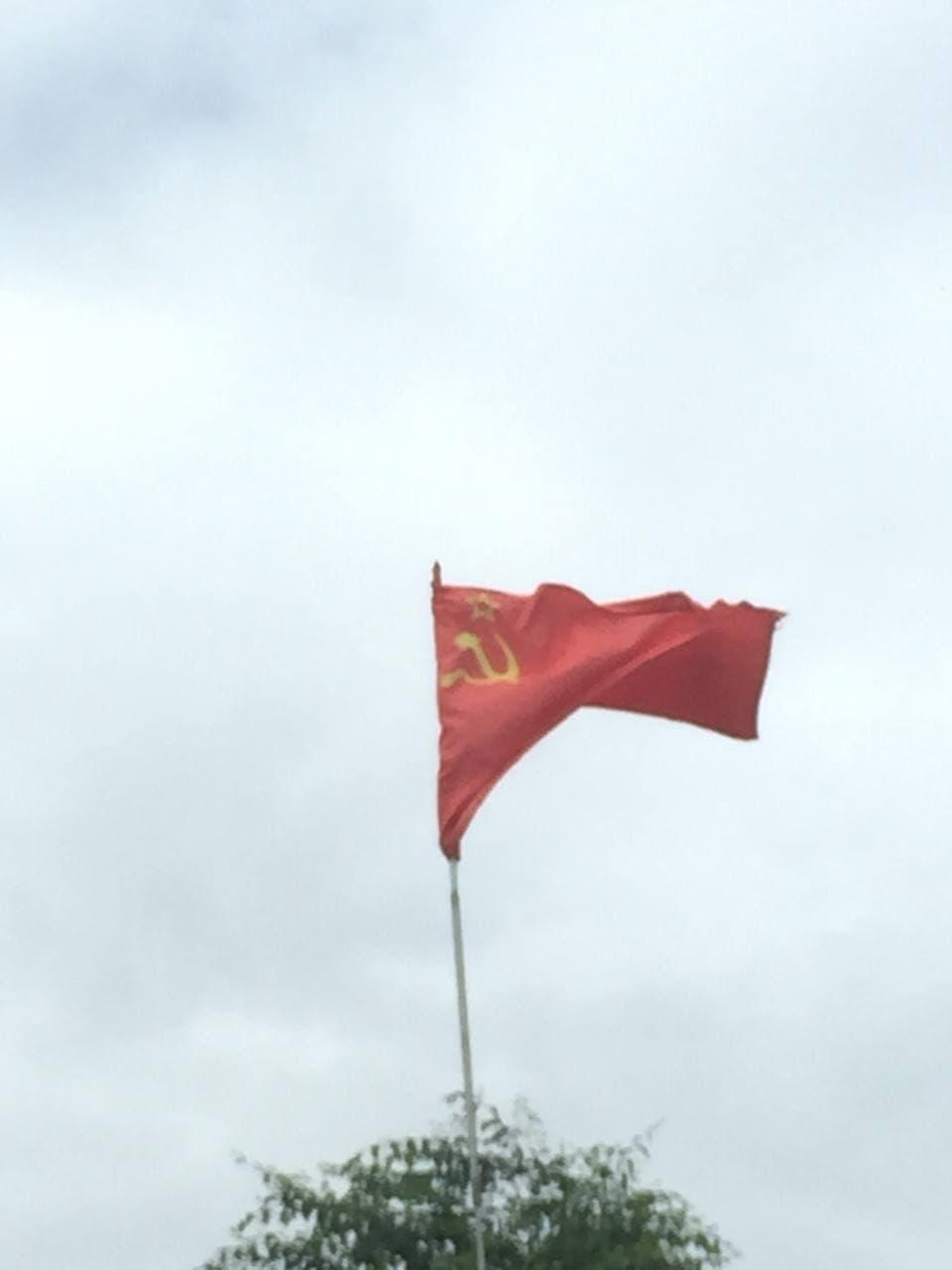 Красный стяг СССР отныне гордо реет над читинским поселком Антипиха. 20 июля.