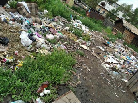 Почти год не убирают помойку по ул. 2-я Московская в Чите