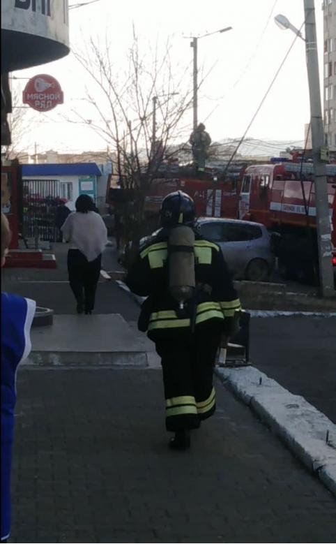 Пожарные выезжали на рынок МЖК в Чите из-за задымления