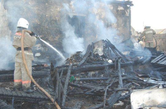 Пенсионеры погибли при пожаре в Забайкалье