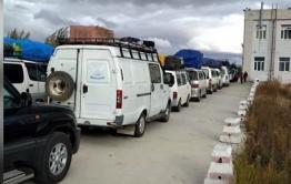 Россияне застряли в больших очередях на границе с Забайкальском