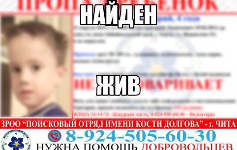 Пропавшего в Борзе четырехлетнего мальчика нашли
