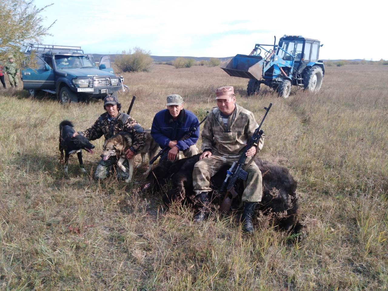 В окрестностях села Токчин охотники убили медведя, раскусившего череп их односельчанина