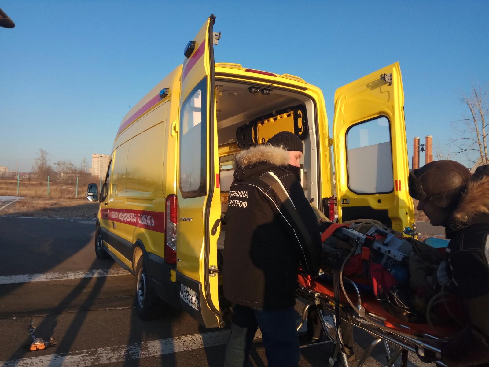 Пострадавшую в ДТП под Сретенском санавиацией доставили в Читу из Нерчинска
