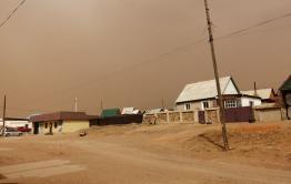Пыльная буря бушует в приграничном Забайкальске