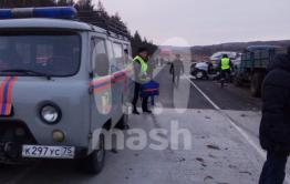 Бригада медицины катастроф вылетела на место двух смертельных ДТП в Агинском районе