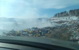 В Красночикойском районе горит свалка