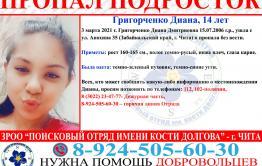В Чите 14-летняя девочка пропала без вести