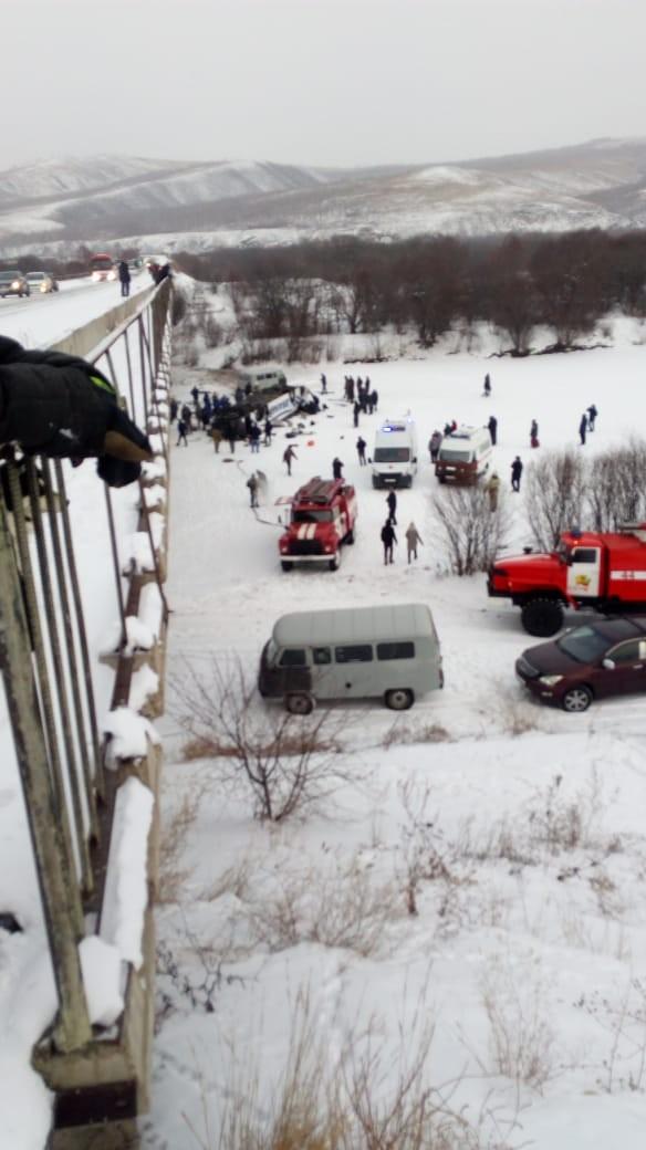 Уголовное дело возбуждено из-за ДТП с упавшим с моста в реку пассажирским автобусом