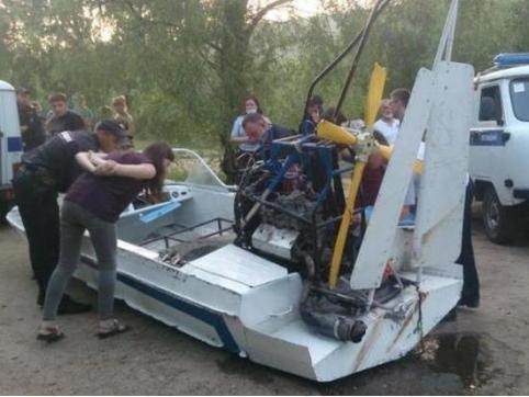 Читинец погиб на Ингоде после крушения аэролодки. Полиция ищет владельца судна