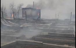В пригороде Читы сгорели 2 улицы в дачном кооперативе