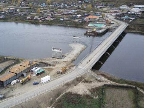 Все опоры моста через реку Ингода в Дарасуне будут готовы к началу ноября