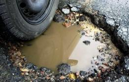 В Борзе по ул. Промышленная не могут завершить ямочный ремонт с 2018 года