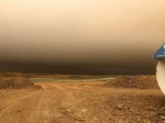 Прямиком из Монголии. В Забайкальском районе прошел дождь с песком 23.05.2021. Фото: «Регион-75»