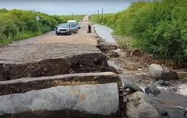 Дорожники восстановили проезд к Вершино-Дарасунскому после наводнения