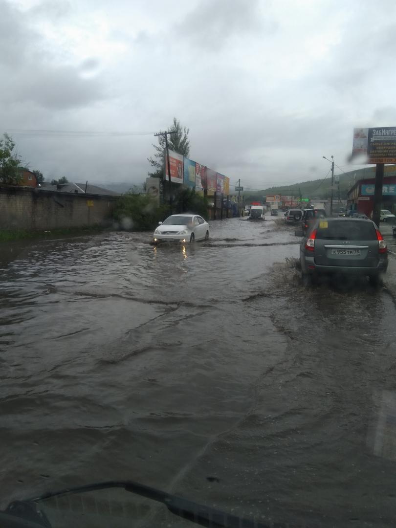 Улица Лазо после дождя. Чита, 30.06.2020 г.