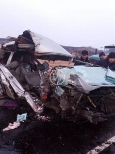 """Авария на трассе """"Чита - Забайкальск"""". 14 ноября 2019 г."""